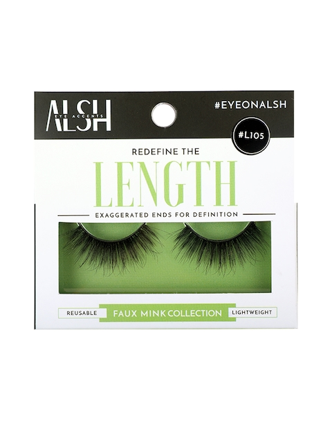ALSH Women Black Length Premium 3D Faux Mink Lashes L105