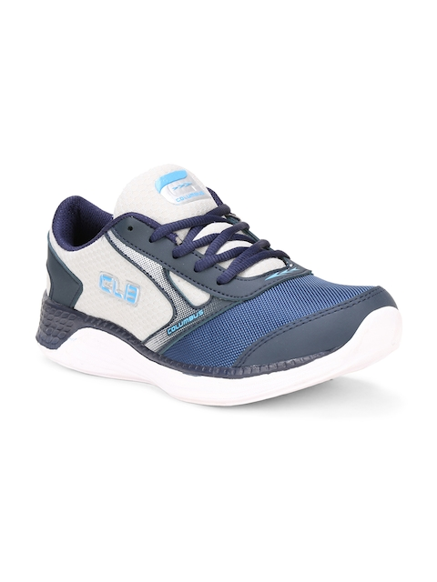 Columbus Men Navy Blue Running Shoes