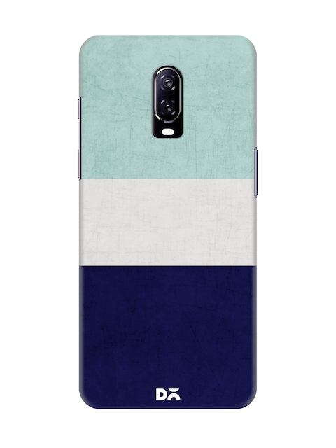 DailyObjects Unisex Blue Colourblocked OnePlus 6T Back Cover