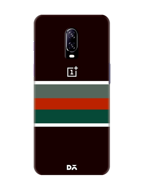 DailyObjects Unisex Multicoloured Colourblocked OnePlus 6T Back Cover