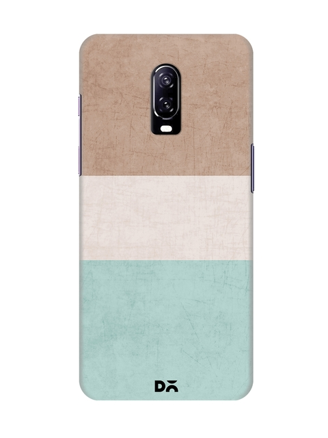 DailyObjects Multicoloured Colourblocked OnePlus 6T Back Cover