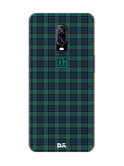 DailyObjects Unisex Green & Multicoloured Checked OnePlus 6T Back Cover
