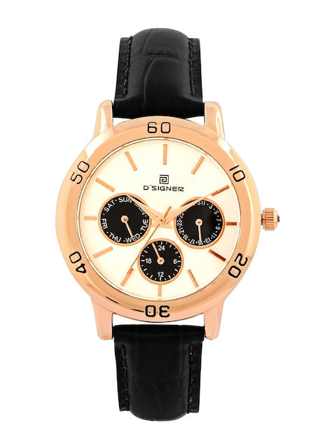 Dsigner Women Cream-Coloured & Gold-Toned Analogue Watch 761RGL.2