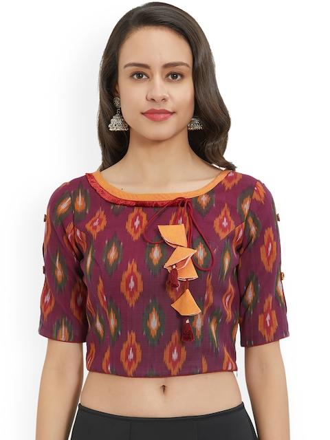 Just B Women Maroon Printed Blouse