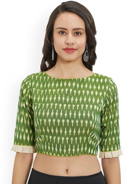 Just B Women Green Printed Blouse