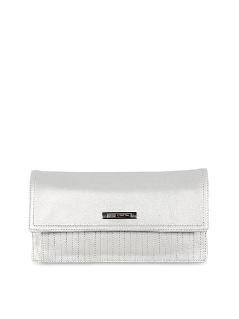 ESBEDA Women Silver-Toned Solid Two Fold Wallet