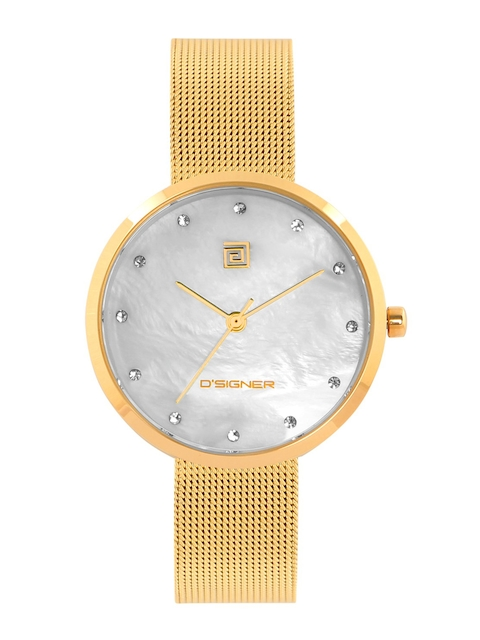 Dsigner Men White & Gold-Toned Analogue Watch 751GM.6