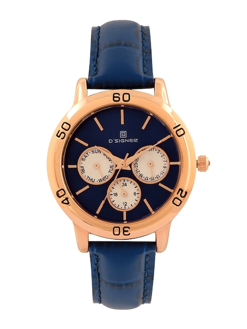 Dsigner Women Navy Blue & Gold-Toned Analogue Watch 761RGL.5