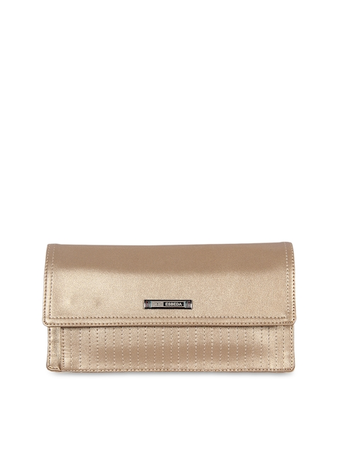 ESBEDA Women Gold-Toned Solid Two Fold Wallet