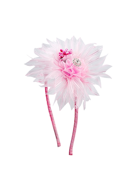 The Magic Wand Girls White & Pink Embellished Hairband