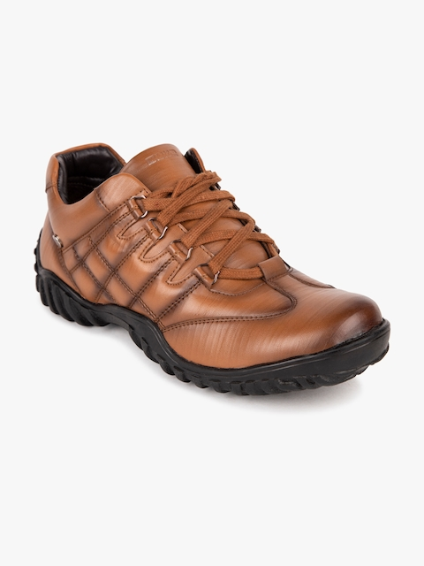 Duke Men Tan Brown Solid Synthetic Mid-Top Flat Boots