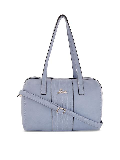 Lavie Blue Solid Handheld Bag