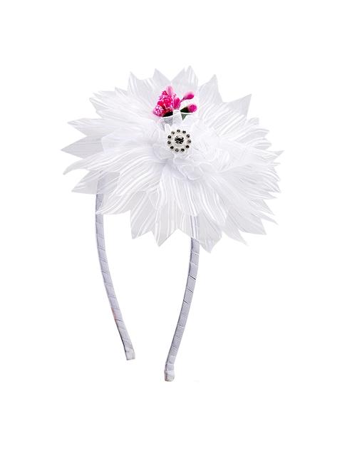 The Magic Wand Girls White Embellished Hairband