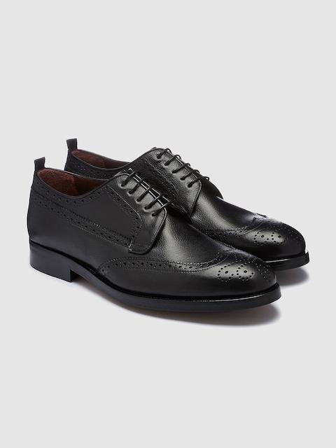Next Men Black Genuine Leather Brogue