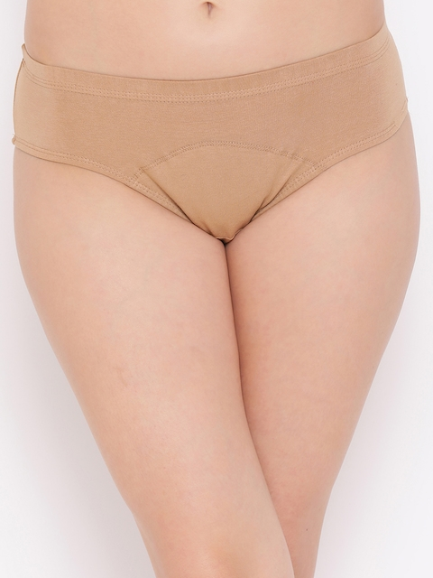 Clovia Women Beige Solid Briefs PN2300P24XL