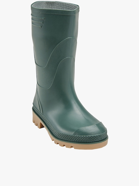 Green High-Top Flat Boots