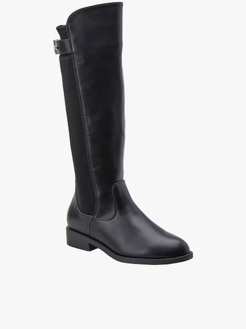 Black High-Top Flat Boots