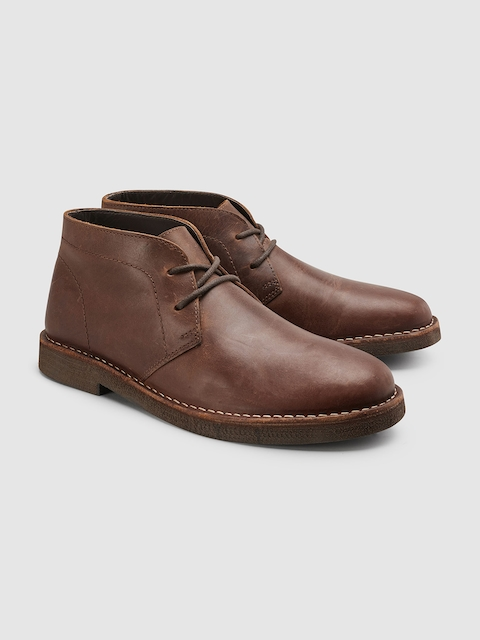 next Men Tan Flat Boots