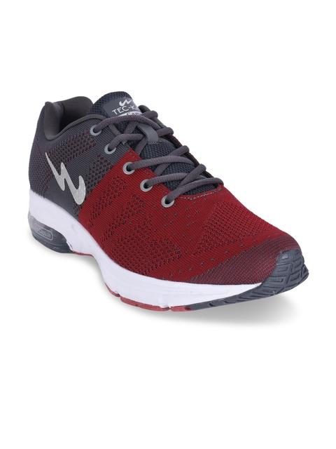 Campus Men Futura Grey & Rust Red Running Shoes