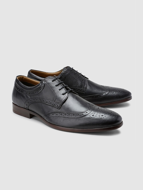 next Men Black Formal Leather Brogues