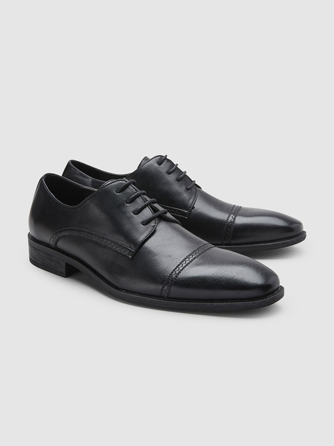 next Men Black Formal Derbys