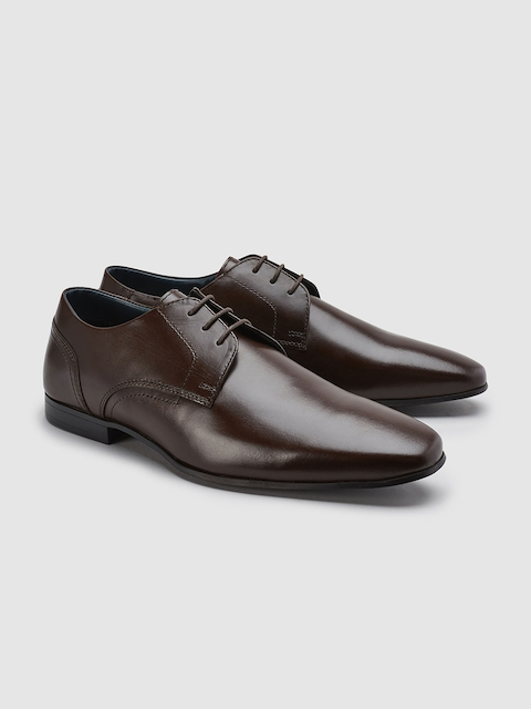 next Men Brown Leather Formal Derbys