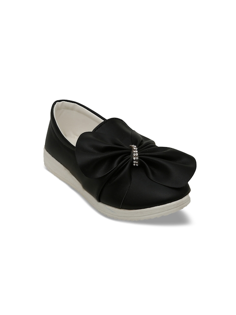 DChica Girls Black Loafers