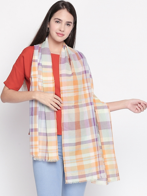 Style Quotient Women Multicoloured Checked Scarf