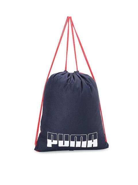 Puma Blue & Red Colourblocked Gym Shoes Bag