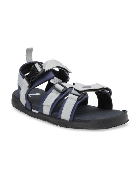 Puma Unisex Navy Blue & Grey Prime X IDP Sports Sandals With Dual Velcro Fastening