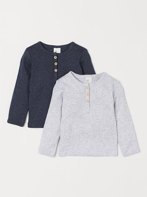 H&M Kids Blue & Grey 2-pack Henley Sweatshirts