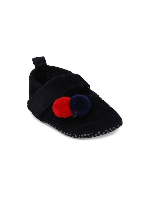 Walktrendy Girls Navy-Blue Applique Booties