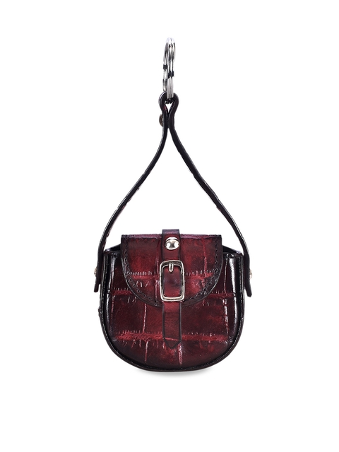 Eske Unisex Magenta Textured Handcrafted Leather Max Keychain