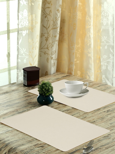 OBSESSIONS Set of 6 Beige Textured Luca Dining Table Mat