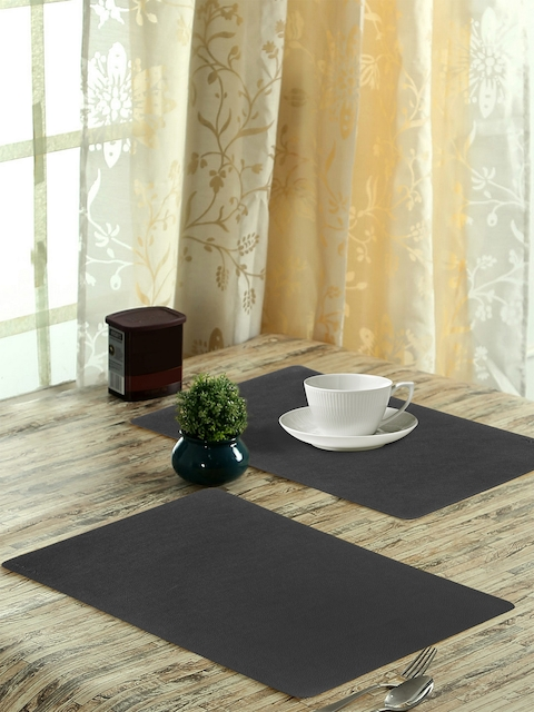 OBSESSIONS Set of 6 Black Textured Luca Dining Table Mat