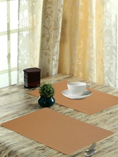 OBSESSIONS Set of 6 Beige Luca Dining Table Mat