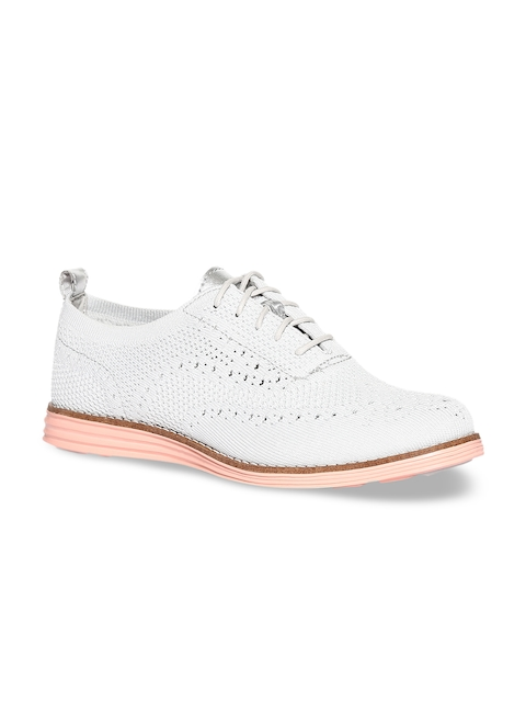 Cole Haan Women Grey OriginalGrand Stitchlite Wingtip Oxford Shoes