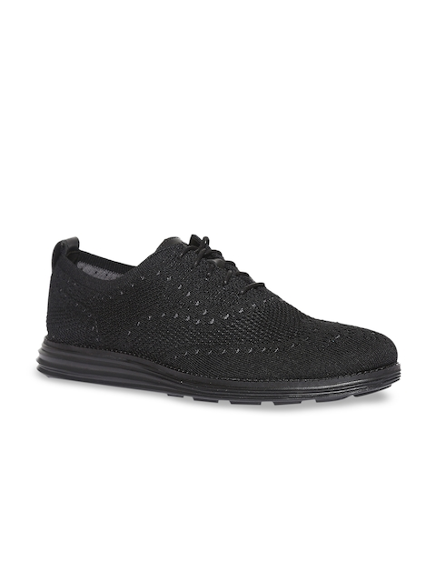Cole Haan Men Black Originalgrand Stitchlite Wingtip Oxford Sneakers