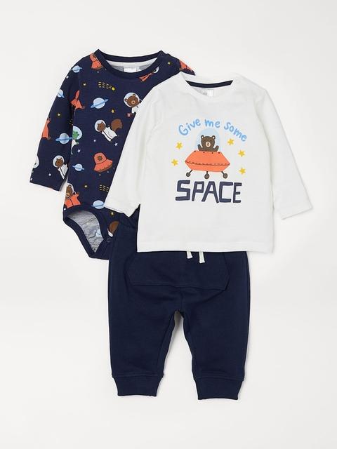 H&M Boys 3-Piece Jersey Set