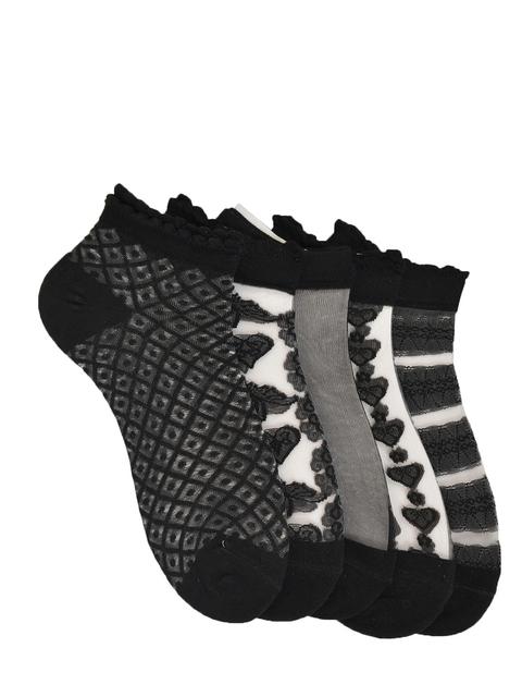 MARC Women Pack Of 5 Patterned Ankle Length Socks