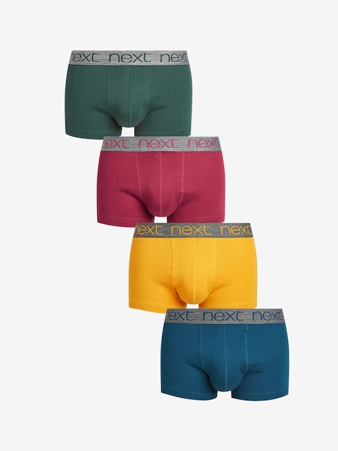 next Men Pack of 4 Solid Pure Cotton Trunks 5059167458938
