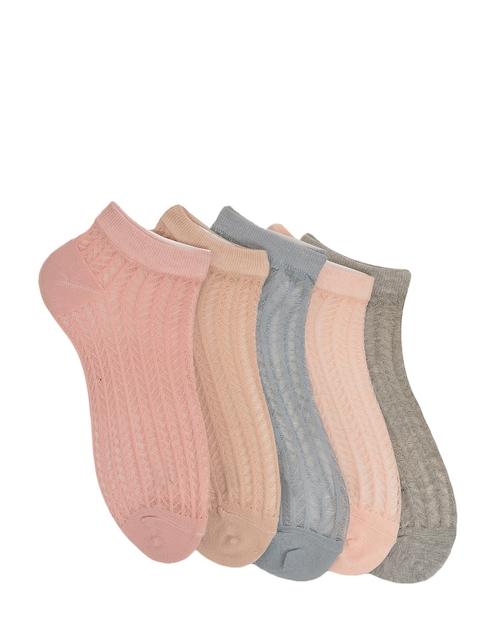 MARC Women Pack of 5 Solid Ankle Length Socks