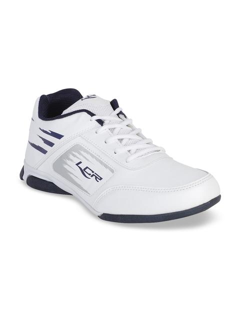 Lancer Men White Solid Sneakers