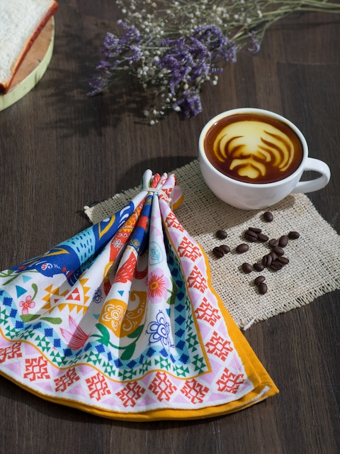 Chumbak Multicoloured Printed Table Napkin