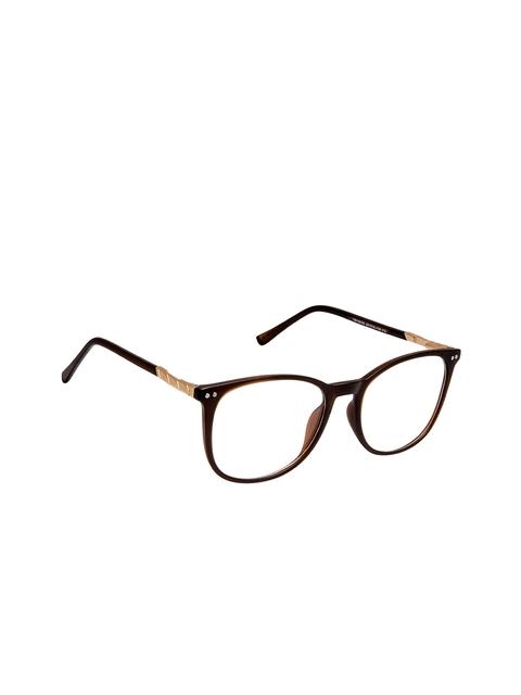 Cardon Unisex Brown Solid Full Rim Round Frames EWCD1933MGL18005C3