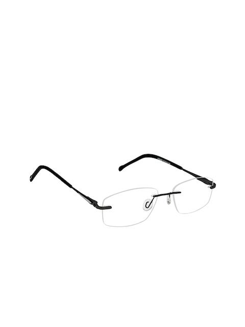 Cardon Unisex Black Solid Rimless Rectangle Frames EWCD2063MGM8006BLK