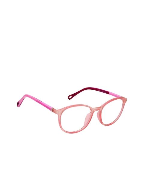 Cardon Unisex Pink Solid Full Rim Round Frames EWCD2023MGL26603PNK