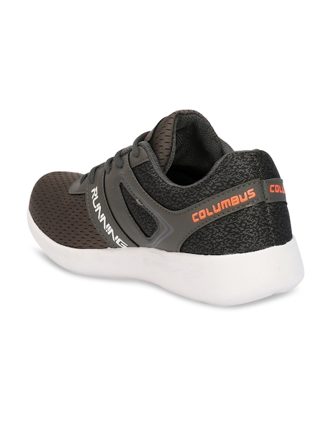 Columbus Men Grey Running Shoes