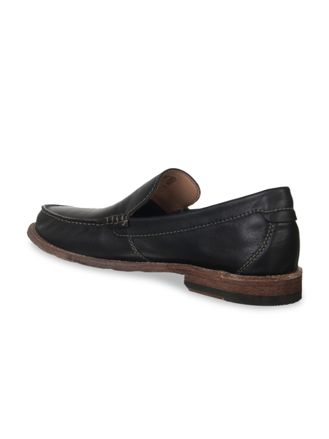 Clarks Men Black Lightweight Leather Loafers
