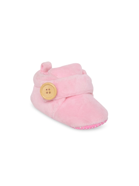 My Soul Unisex Pink Solid Booties